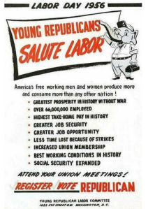 young republicans support labor 1956